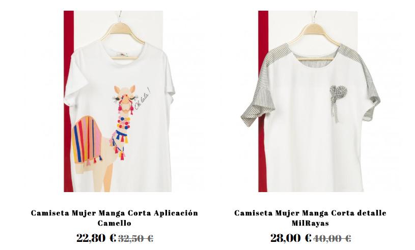 comprar camisetas baratas online de mujer